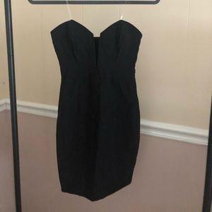 Lulus Strapless Black Dress